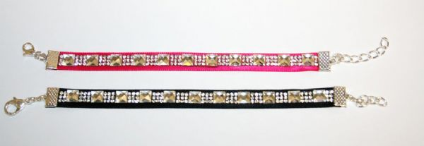 Sparkling diamante ribbon bracelet